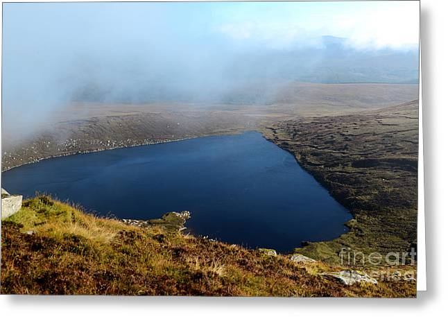 Heart Shape Lake Lough Ouler Wicklow In Ireland Greeting Card