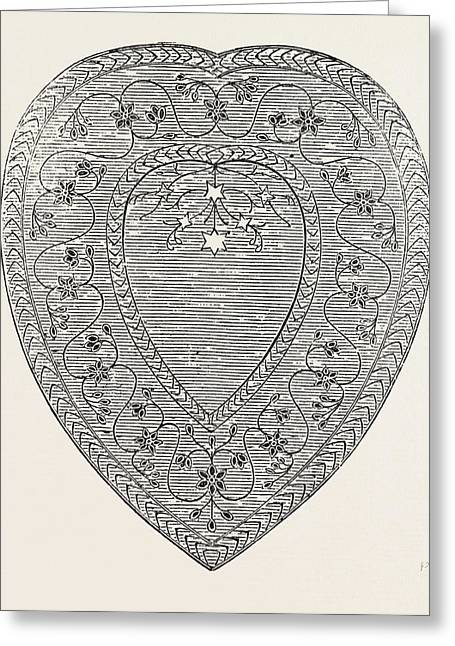 Heart-shaped Dish Of Jasper, Jewelled, By The East India Greeting Card by English School