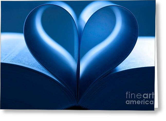 Heart-shaped Pages, Book Greeting Card