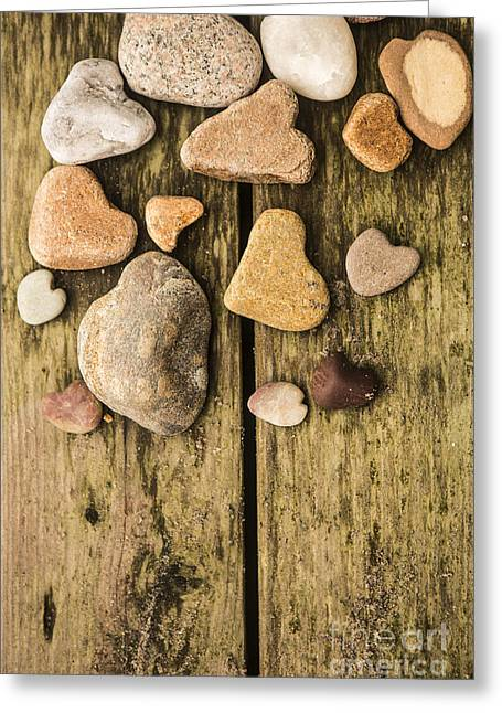 Heart Shaped Rocks Greeting Card by Diane Diederich