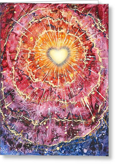 Heart Source Greeting Card by Melinda DeMent