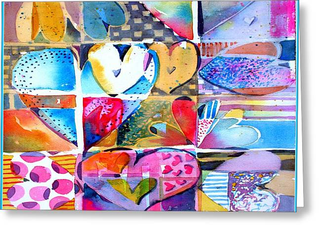 Heart Throbs Greeting Card by Mindy Newman