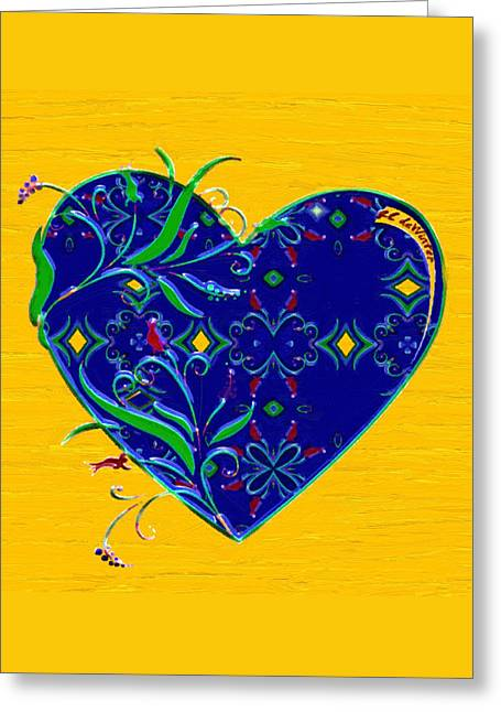 Heartbloom Greeting Card by RC deWinter