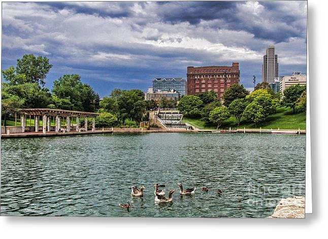 Heartland Of America Park Greeting Card by Elizabeth Winter