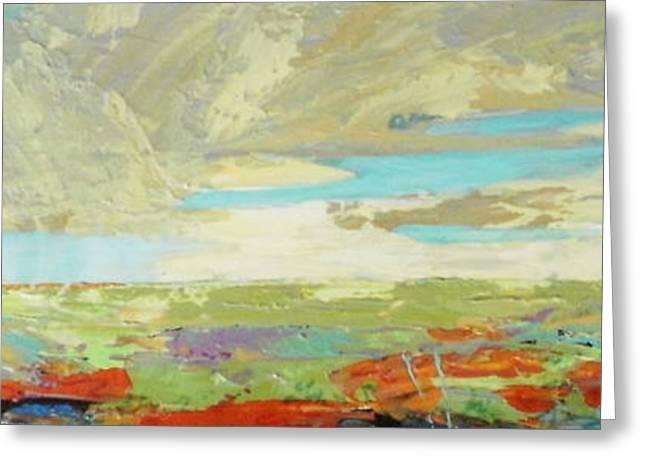 Heartland Series/ Big Sky Greeting Card by Marilyn Hurst