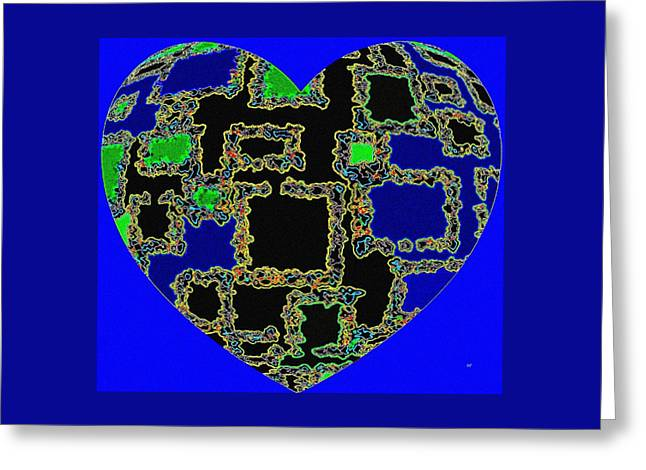 Heartline 11 Greeting Card by Will Borden