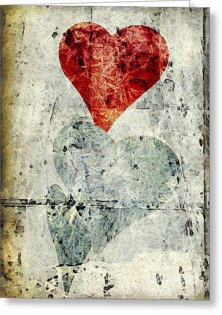 Hearts 1 Greeting Card by Edward Fielding