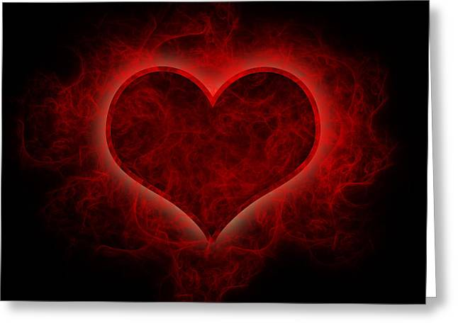 Heart's Afire Greeting Card