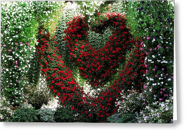 Greeting Card featuring the photograph Hearts And Flowers by Jennifer Wheatley Wolf