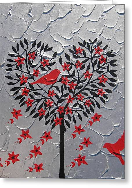 Hearts Greeting Card by Cathy Jacobs