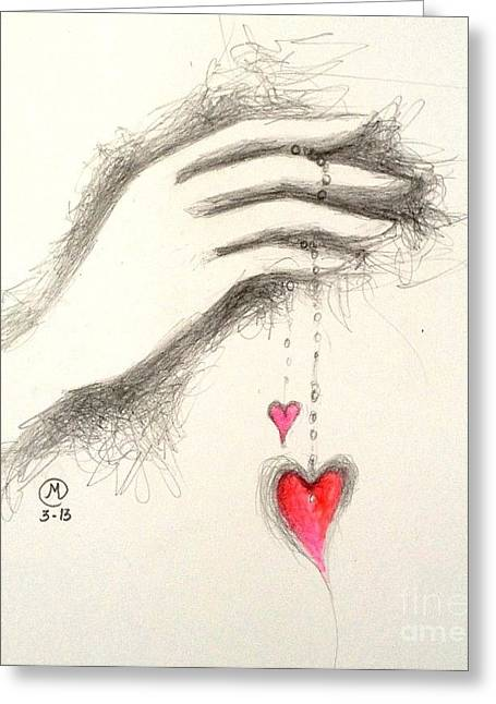 Hearts In Hand Greeting Card