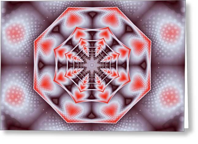 Hearts Of The Dharma Wheel Greeting Card by Mario Carini