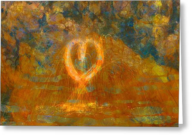 Hearts On Fire Greeting Card by Dan Sproul