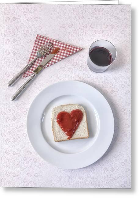 Hearty Toast Greeting Card by Joana Kruse