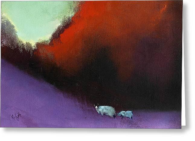 Heathland Sheep Greeting Card by Neil McBride