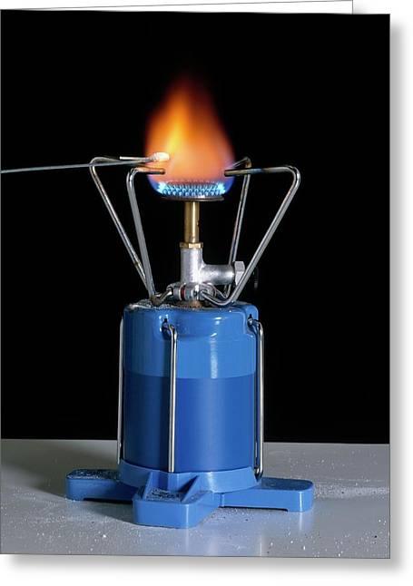 Heating Sodium Chloride Greeting Card