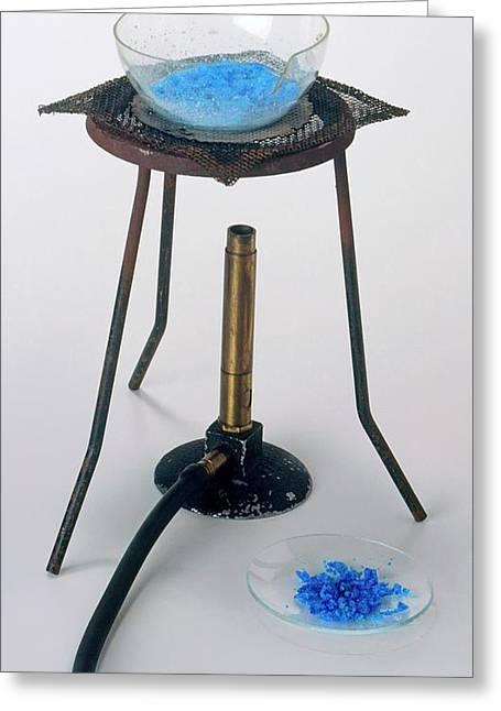 Heating Water And Copper Sulphate Greeting Card by Dorling Kindersley/uig
