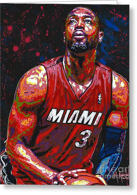 Dwyane Tyrone Wade Jr. Greeting Card by Maria Arango