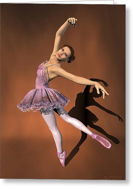 Heaven - Ballerina Portrait Greeting Card by Andre Price