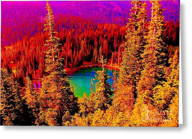 Heaven And Nature Sing Greeting Card by Ann Johndro-Collins