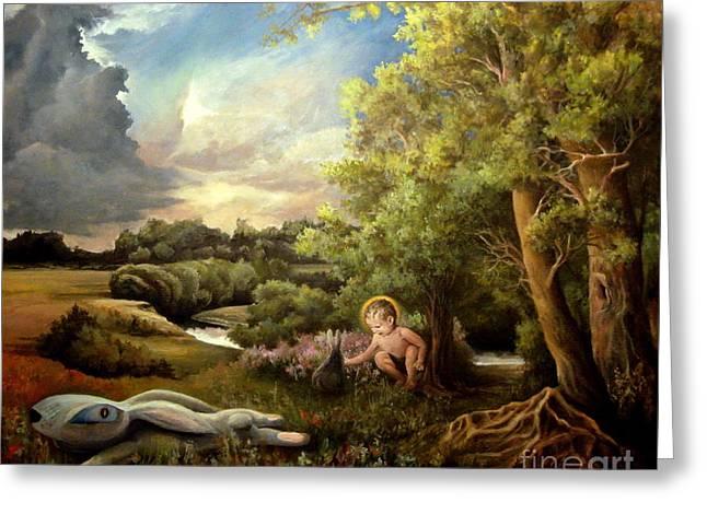 Heaven Greeting Card by Mikhail Savchenko