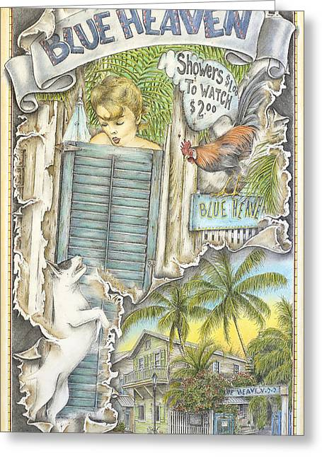 Heaven On A Fork Greeting Card by Mike Williams