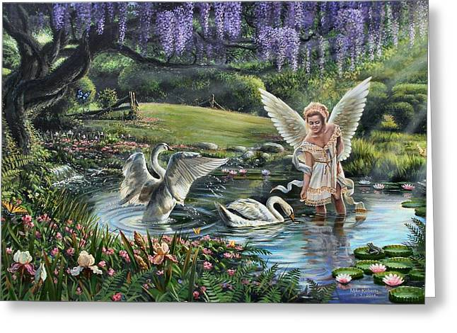 Heavenly Blessings Greeting Card by Mike Roberts