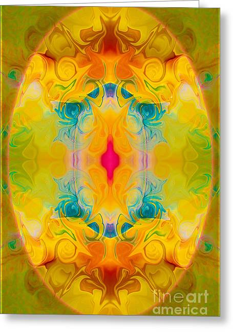 Heavenly Bliss Abstract Healing Artwork By Omaste Witkowski  Greeting Card