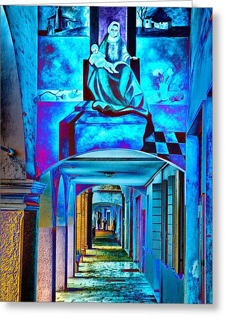 Heavenly Blues Greeting Card by William Beuther