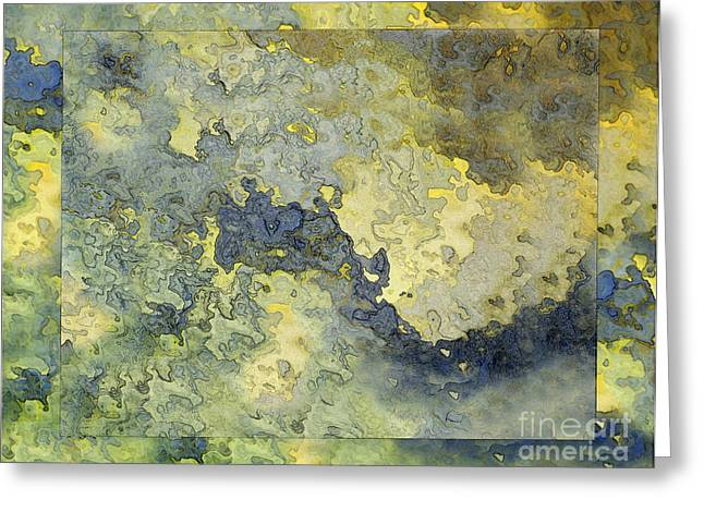 Heavenly Clouds Abstract Greeting Card by Debbie Portwood