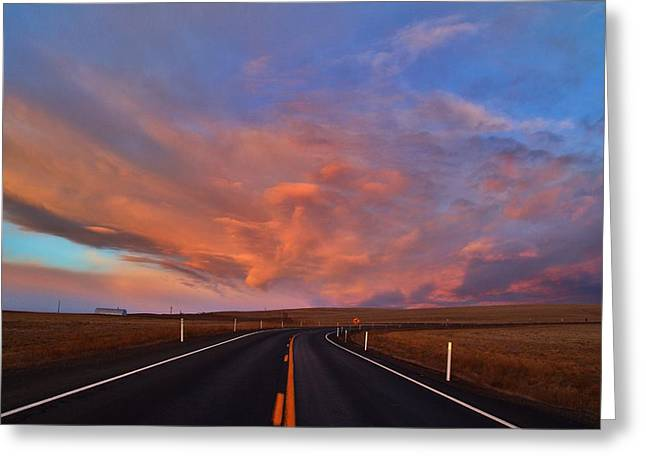Greeting Card featuring the photograph Heavenly Clouds by Lynn Hopwood