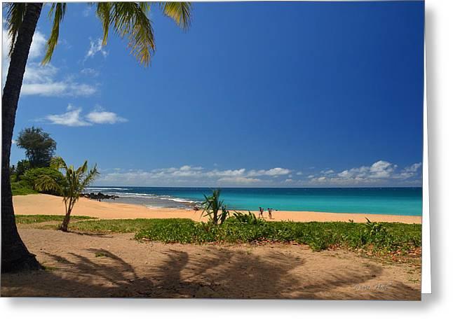 Heavenly Haena Beach Greeting Card by Marie Hicks