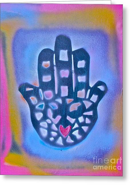 Heavenly Hamza 1 Greeting Card by Tony B Conscious
