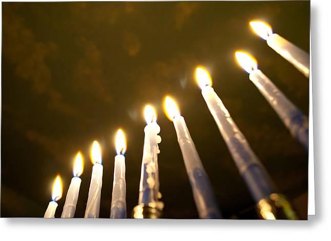 Heavenly Lights Greeting Card by Tikvah's Hope