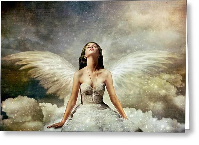 Heavenly Greeting Card by Linda Lees
