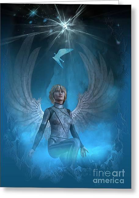 Heavenly Messenger Greeting Card by Shadowlea Is
