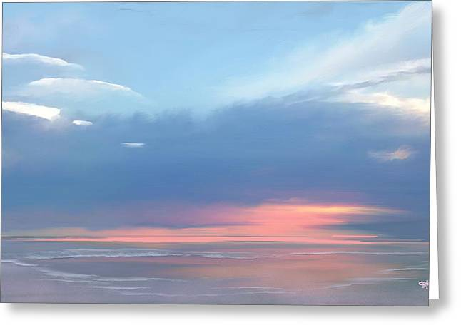 Greeting Card featuring the digital art Heavenly Morning by Anthony Fishburne
