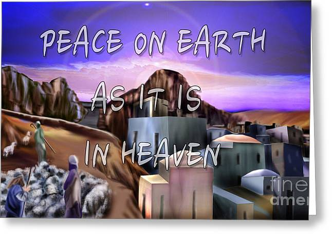 Heavenly Peace On Earth  Greeting Card by Reggie Duffie