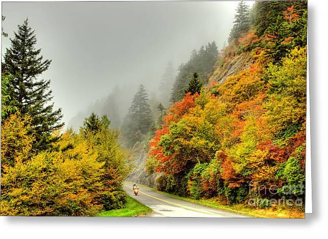 Heavenly Ride I - Blue Ridge Parkway Greeting Card by Dan Carmichael