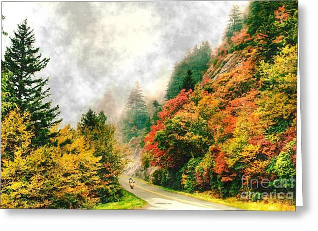 Heavenly Ride II - Blue Ridge Parkway Greeting Card by Dan Carmichael