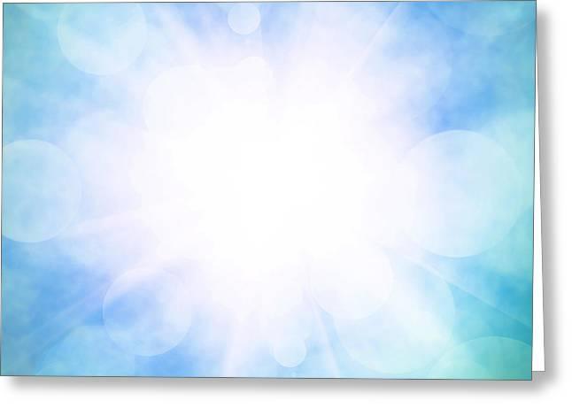 Heavenly Sky Greeting Card by Carlos Caetano