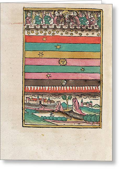 Heavenly Spheres Greeting Card by Library Of Congress