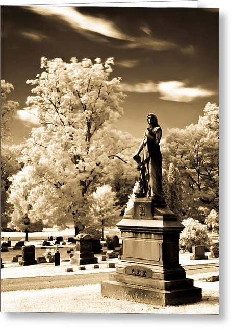 Greeting Card featuring the photograph Heavenly Statue by David Stine