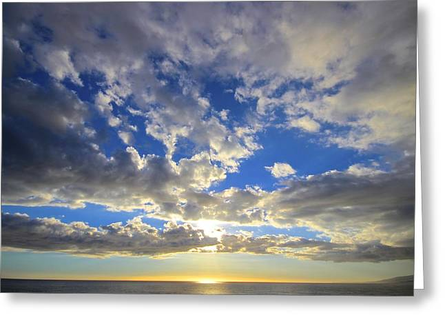 Heavenly Sunset Greeting Card by Kevin Itsaboutvision