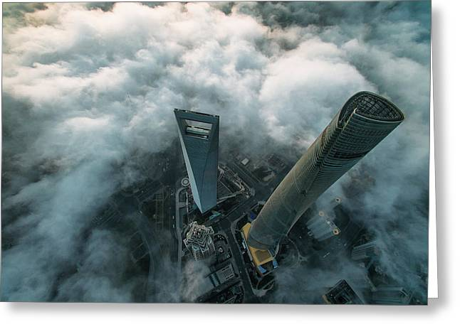 Heavenly View Of Shanghai Greeting Card