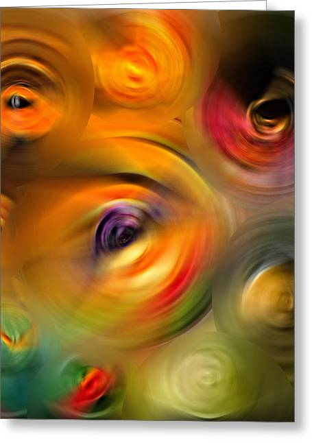 Heaven's Eyes - Abstract Art By Sharon Cummings Greeting Card by Sharon Cummings