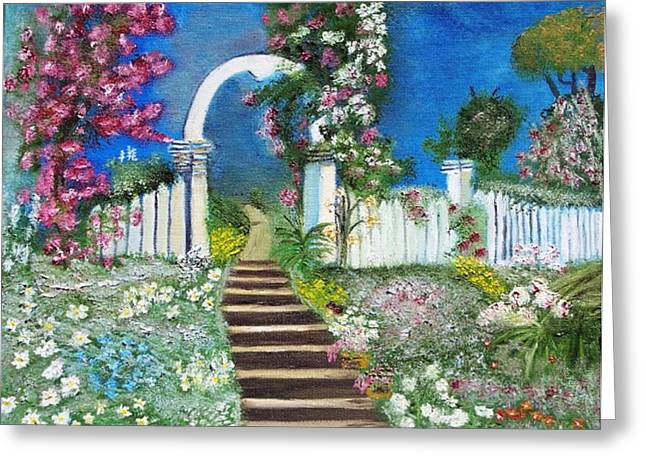 Heaven's Gate Greeting Card by The GYPSY And DEBBIE