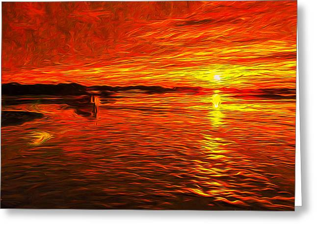 Heavens Of Fire Greeting Card