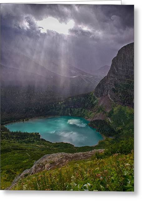 Heavens Open Greeting Card