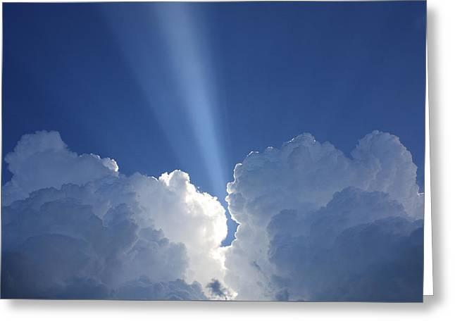 Heaven's Spotlight Greeting Card